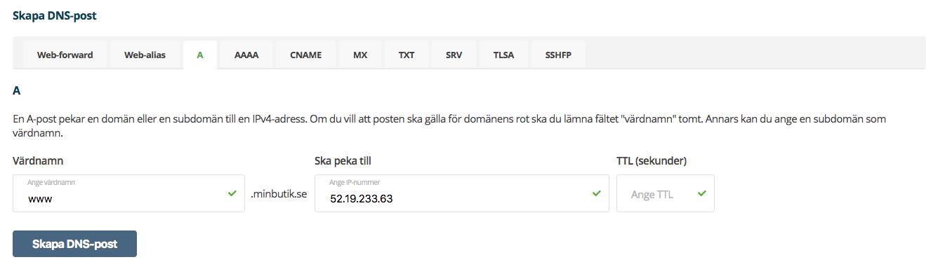 Domän pekning - One - Med www