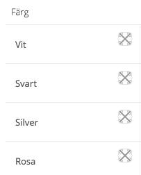 Klicka på ikonen för Färgväljaren för att enkelt välja färg